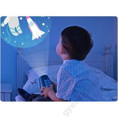 Zenélő projektor éjjeli fény 24 mintával kék